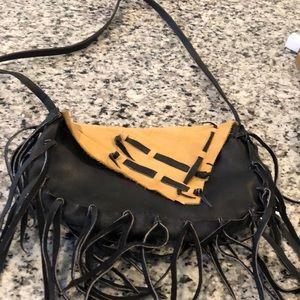 Vintage handmade leather handbag